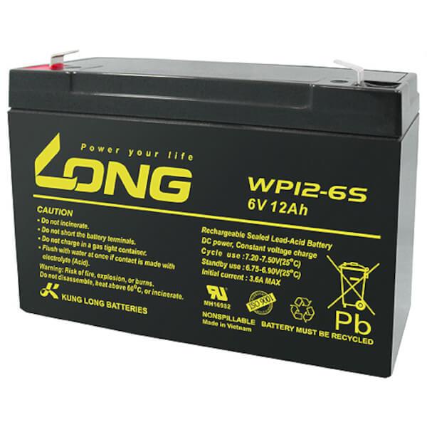 Kung Long WP12-6S - 6V 12Ah Blei-Akku / AGM Batterie