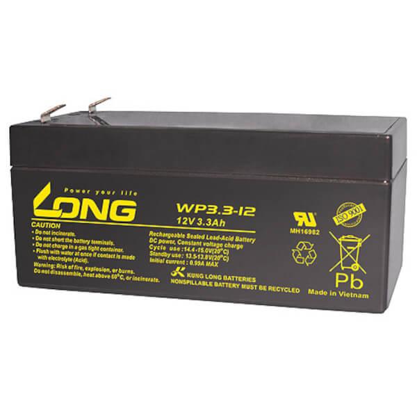 Kung Long WP3.3-12 - 12V 3,3Ah Akku / AGM Batterie