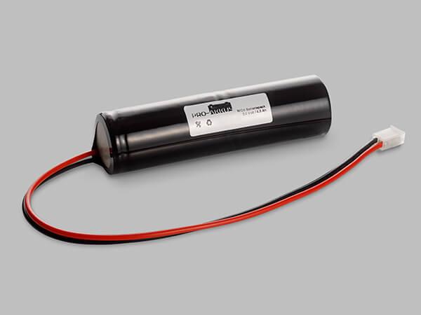 NiCd Notbeleuchtung Akku 2,4V / 4000mAh Stab mit Kabel und Stecker