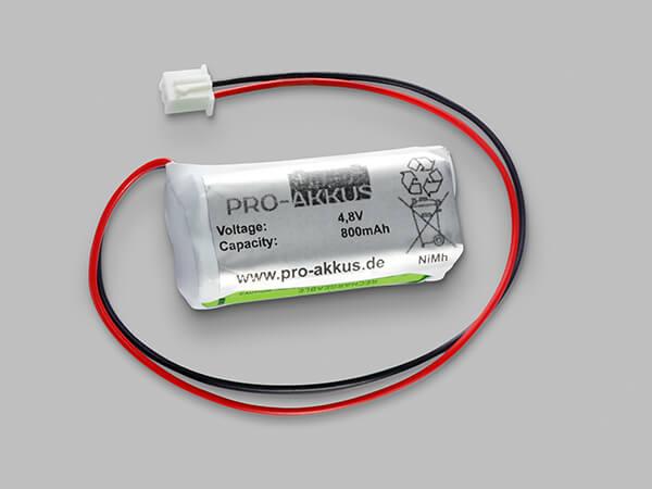 Ni-Mh / 800mAh / 4,8V Notbeleuchtung Akkupack kompatibel zu IL570001 / 42A5-002
