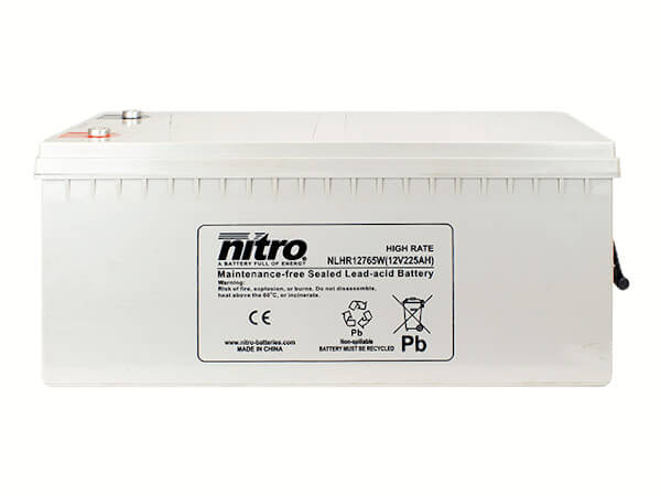 nitro NLHR12765W Batterie / Akku - 12V 225Ah AGM High Rate