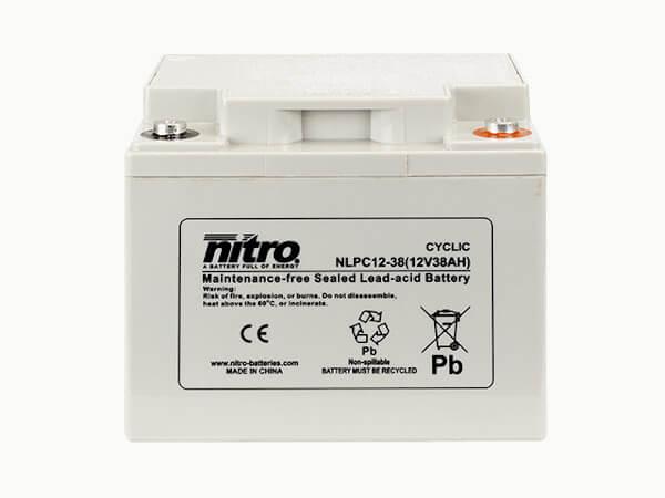 nitro NLPC12-38 Batterie / Akku - 12V 38Ah AGM Cyclic