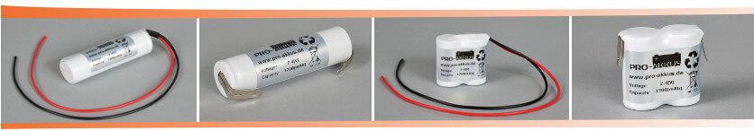 2,4V Notbeleuchtung Akkus