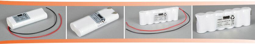 7,2V Notbeleuchtung Akkupacks