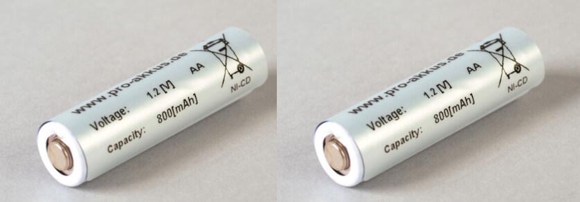 1,2V Notbeleuchtung Akkus