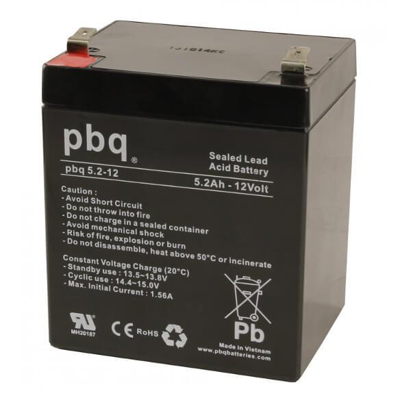 pbq 5.2-12 AGM Bleiakku - 12V 5,2Ah Allzweckbatterie