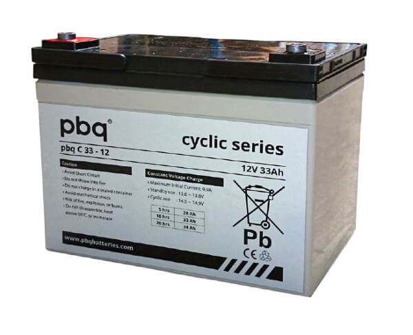 pbq C33-12 AGM Bleiakku - 12V 33Ah zyklenfest