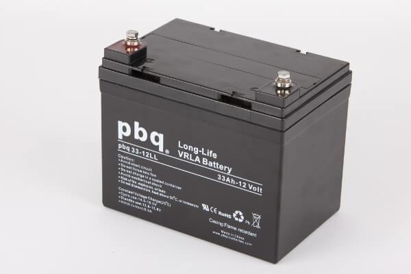 pbq L33-12 / 33-12LL AGM Bleiakku - 12V 33Ah Long Life-Batterie