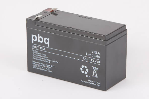 pbq L7-12 / 7-12LL AGM Bleiakku VdS - 12V 7Ah Long Life-Batterie
