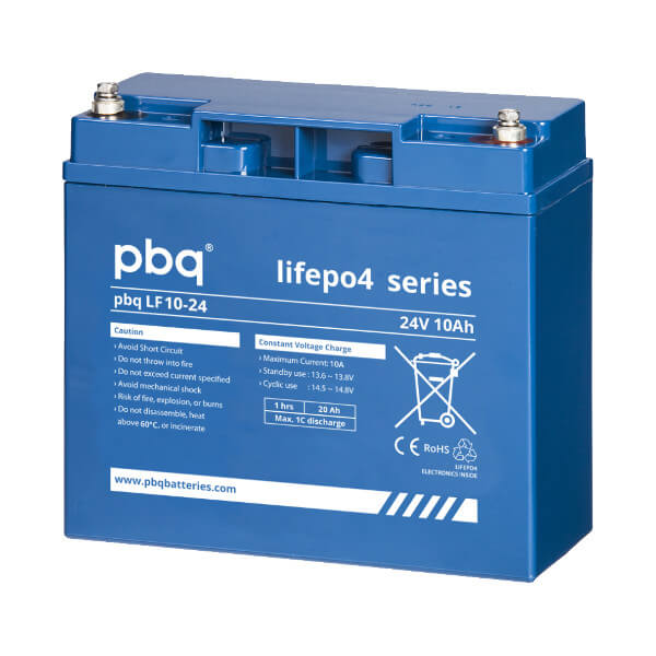 pbq LF10-24 LiFePO4 Batterie - 25,6V 10Ah Lithium-Ferrophosphat-Akku