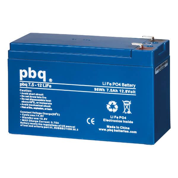 pbq 7.5-12Life LiFePO4 Batterie - 12,8V 7,5Ah Lithium-Ferrophosphat-Akku