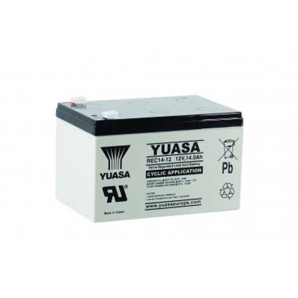 Yuasa REC14-12 12V 14Ah Blei-Akku / AGM Batterie Zyklentyp
