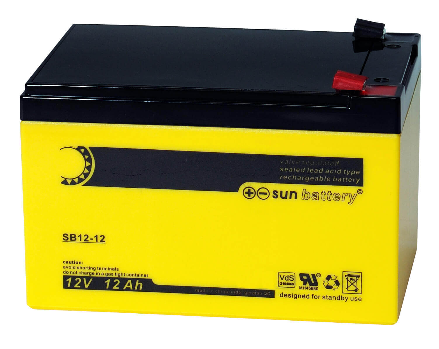 Sun Battery SB12-12 12V 12Ah Bleiakku Faston 187 Anschluss