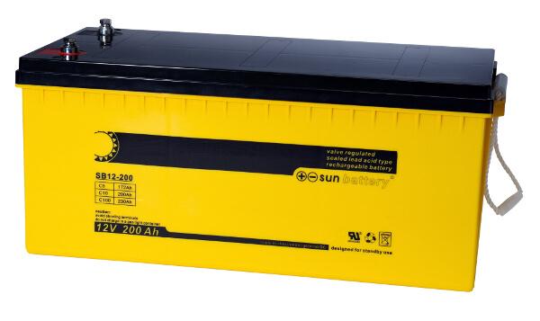 Sun Battery SB12-200 12V 200Ah Bleiakku