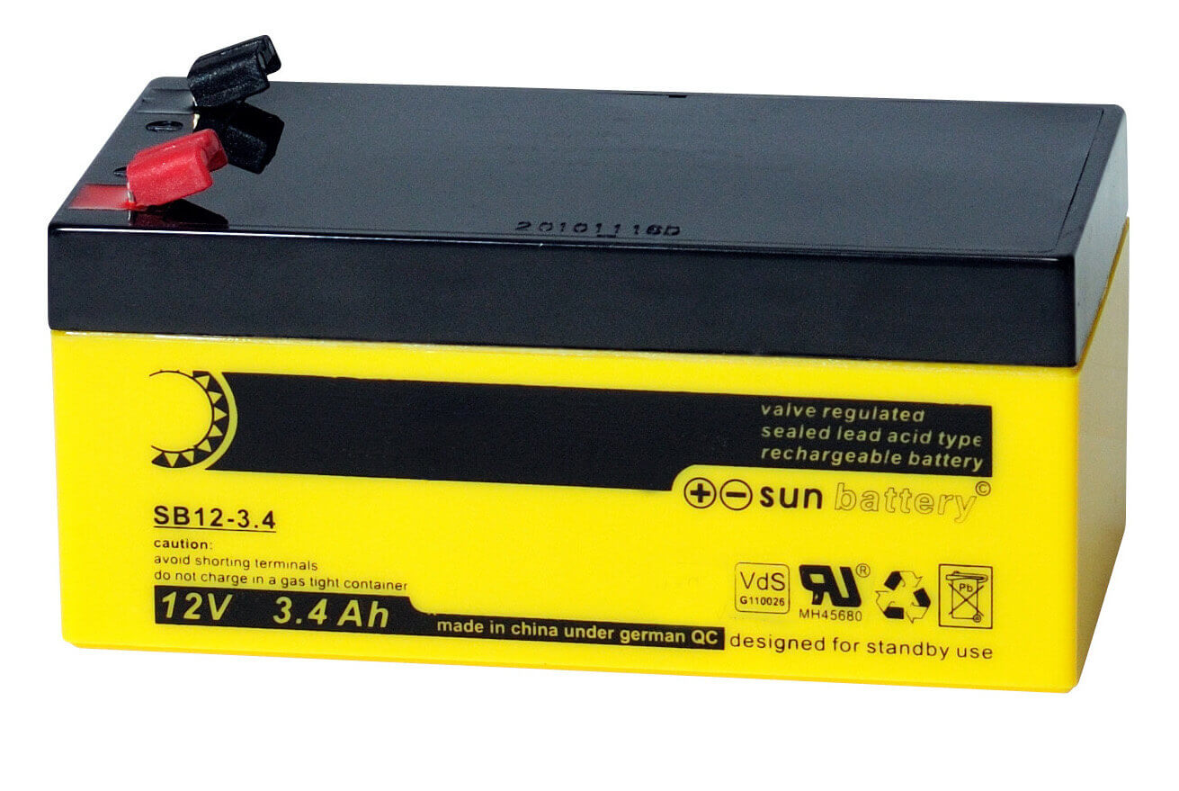 Sun Battery SB12-3.4 12V 3,4Ah Bleiakku