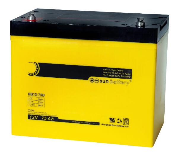 Sun Battery SB12-75H 12V 75Ah Bleiakku
