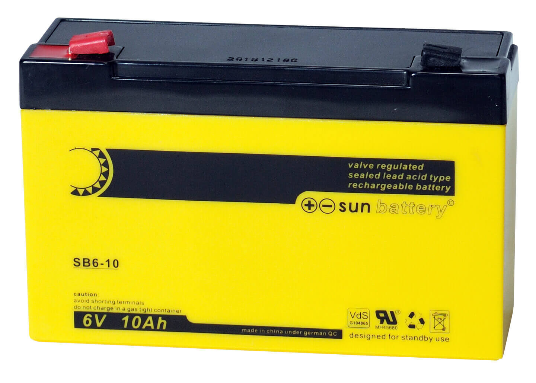 Sun Battery SB6-10 6V 10Ah Bleiakku