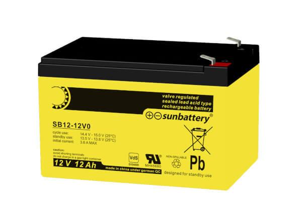 SUN Battery SB12-12 12V 12Ah Bleiakku VdS