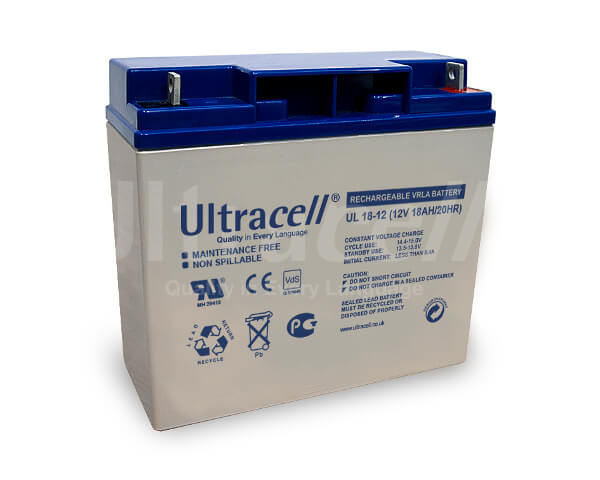 Ultracell UL18-12 12V 18Ah wiederaufladbare VRLA Batterie Akku VdS