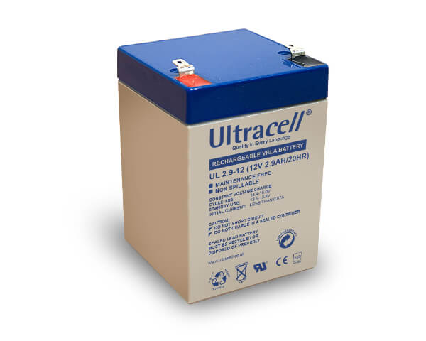 Ultracell UL2.9-12 12V 2,9Ah wiederaufladbare VRLA Batterie Akku