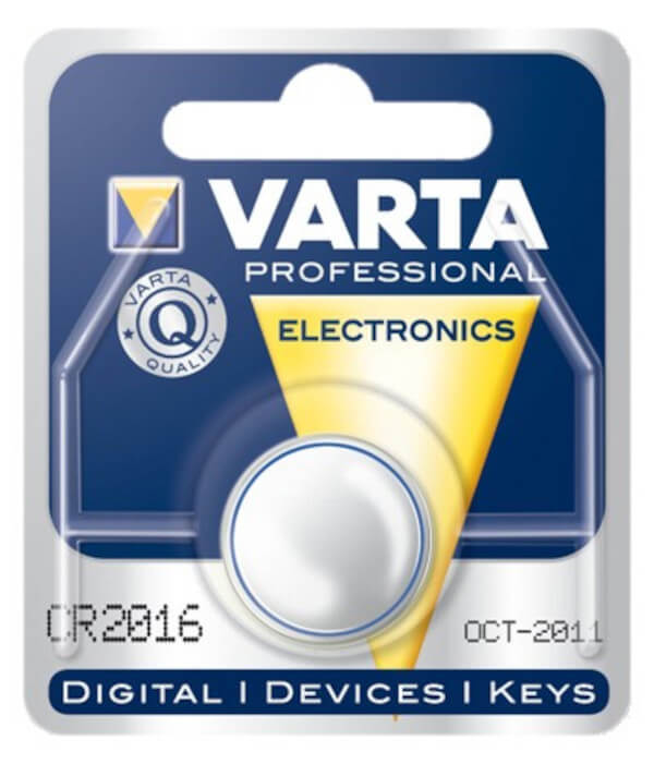 Varta CR2016 Lithium Batterie / Knopfzelle