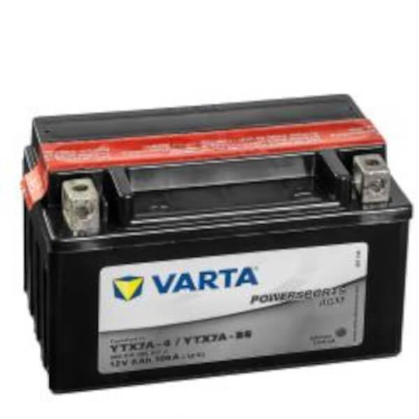 VARTA Powersports AGM 506 015 005 Motorradbatterie  - 12V 6Ah wartungsfrei