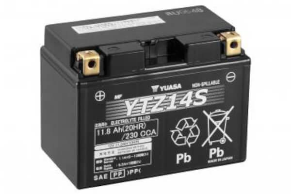 YUASA Motorradbatterie YTZ14S - 12V 11,8Ah wartungsfrei High Performance